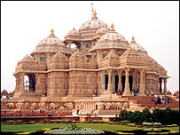 Swaminarayan Akshardham Temple, New Delhi; said to be the world's largest Hindu temple