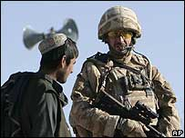 British soldier in Musa Qala