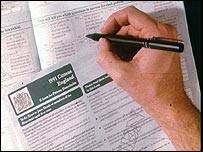 Filling in census form