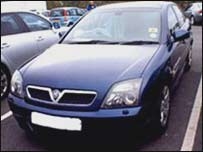 A Vauxhall Vectra similar to the one used by Mr McCollin's killers