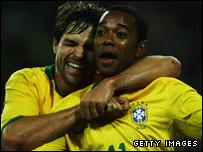Robinho (right) and Diego