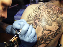 Tattoo artist in Switzerland. File pic