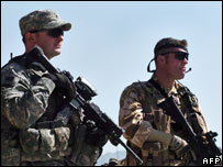 US and UK soldiers in Afghanistan. File pic