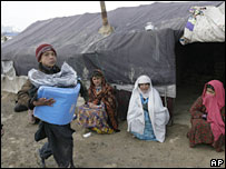 Relief distribution by Unicef in Kabul.