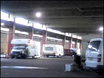 Travellers set up camp in the old Luton Bus Station