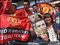 Manchester United have millions of fans in China