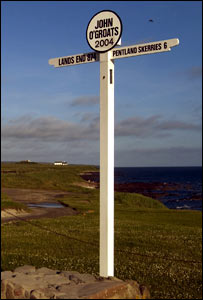 John O'Groats sign. (Pic: Mike Roper)