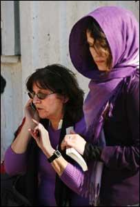 Treasa Ni Cheannabhain, left, and her daughter Naisrin el-Safty