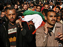 Funeral of Hamas militant Hamouda Sharafa Tufha, killed in an Israeli raid