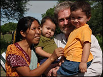 A family group of Wichi people from northern Argentina