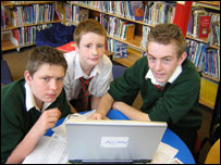 Sam, Craig and Marcus from Park Community School in Havant, Hampshire