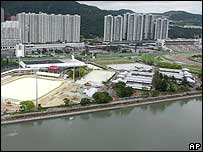 Arena in Hong Kong for the Olympic dressage in 2008