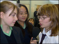 School Reporters from Guildford County School in Surrey