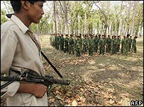 Maoists in Nepal (file pic)