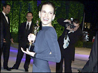 Hilary Swank at the 2005 Vanity Fair party