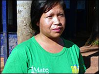Graciela, a villager in Fort Mborore, Argentina