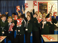 Students from Greenwood Dale School in Nottingham