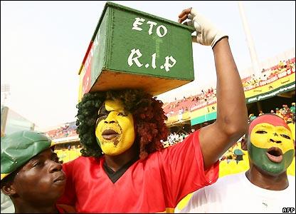 Ghana fans await kick-off in Accra