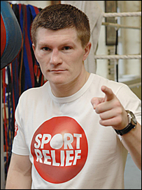 Ricky Hatton wants you to sign up for Sport Relief