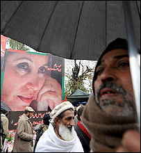 Poster of Benazir Bhutto in Rawalpindi