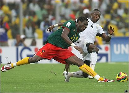 Mohamadou Idrissou and John Paintsil
