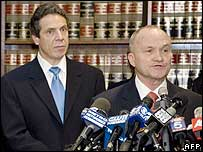New York City Police Commissioner Raymond Kelly and New York State Attorney General Andrew Cuomo