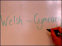Welsh - Cymraeg sign
