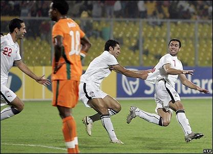 Fathi celebrates his goal