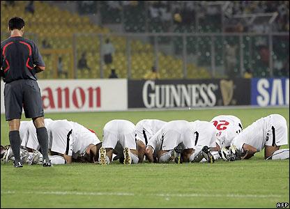 Egypt celebrate their goal