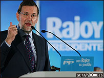 Mariano Rajoy, presidente del Partido Popular español