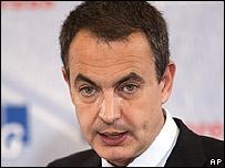Jos� Luis Rodr�guez Zapatero, presidente del gobierno espa�ol