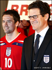 Michael Owen and Fabio Capello