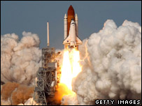 Atlantis shuttle launches (Getty)