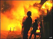 Riot police in Toulouse in November 2005