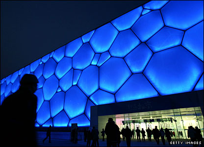 The exterior of Beijing's 'Water Cube' venue