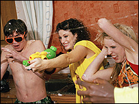 A party scene from Skins