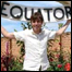 Simon at an Equator sign