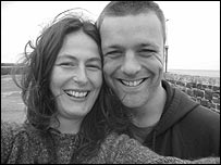 Jamie Stephenson with his wife Carol who he married in 2004