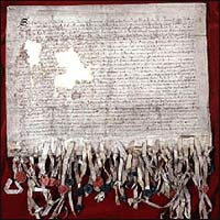 Declaration of Arbroath (picture National Archives of Scotland)