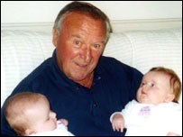 Frank Wayman and his two great-granddaughters