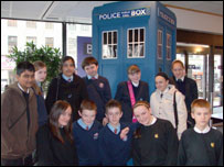 Students from Hope High School, The Swinton High School and Salford City Academy at BBC's TV Centre