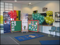 Displays of students work