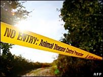 Animal disease no entry tape