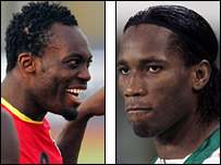 Michael Essien and Didier Drogba
