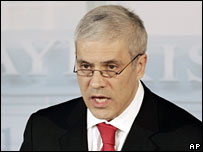 Serbian President Boris Tadic speaking in Munich, 8 February 2008