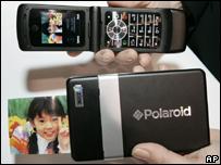 A Polaroid printer