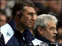 Nigel Pearson (left) with Kevin Keegan