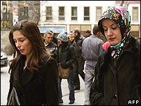 Two women in Istanbul 7 February 2008