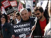 Strikers in Los Angeles