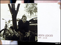 Heath Ledger memorial service